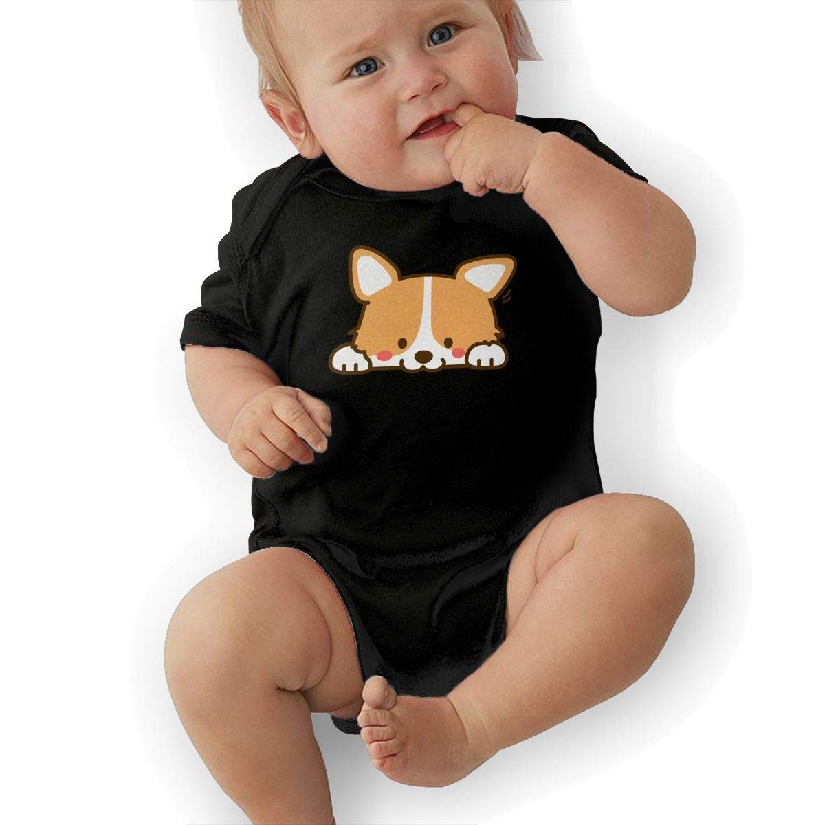 Dfenere Cartoon Dog Casual Newborn Baby Short Sleeve Bodysuit Romper Infant Summer Clothing