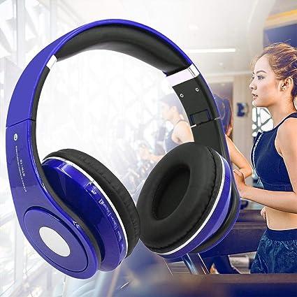 Liqiqi BT - Auriculares inalámbricos HiFi estéreo con micrófono Integrado para Apple Android, Smartphones,