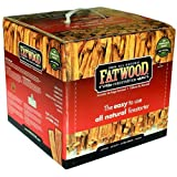 Outdoor Wood Burner Wood Products 9910 Fatwood Box, 10 Pounds