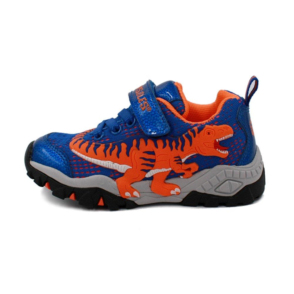 Boys Dinosaur Woven Light Weight LED Casual Running Shoes Sneakers Children/Little Kids (EU27/ US10/ Inner Sole 173mm)