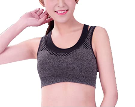 bfae31123a JIA HONG Fake Two Professional Sports Bras Double-layered Bra Underwear Fast -drying Sports