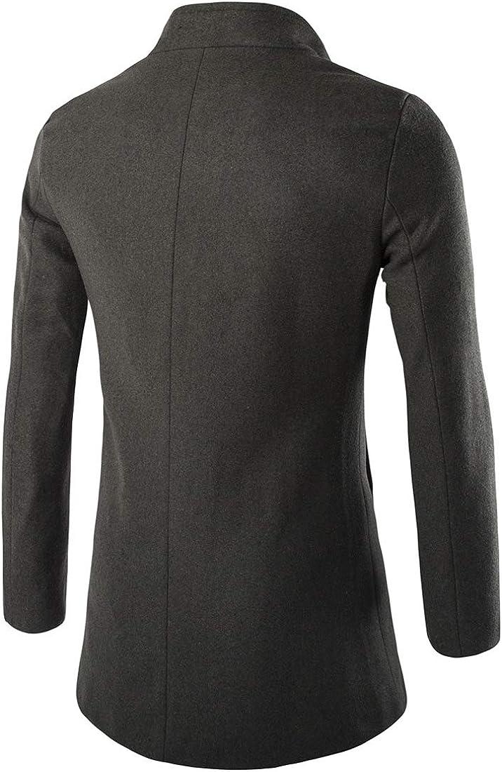 cheelot Mens Wear to Work Casual Keeping Warm Peacoat Outwear Topcoat