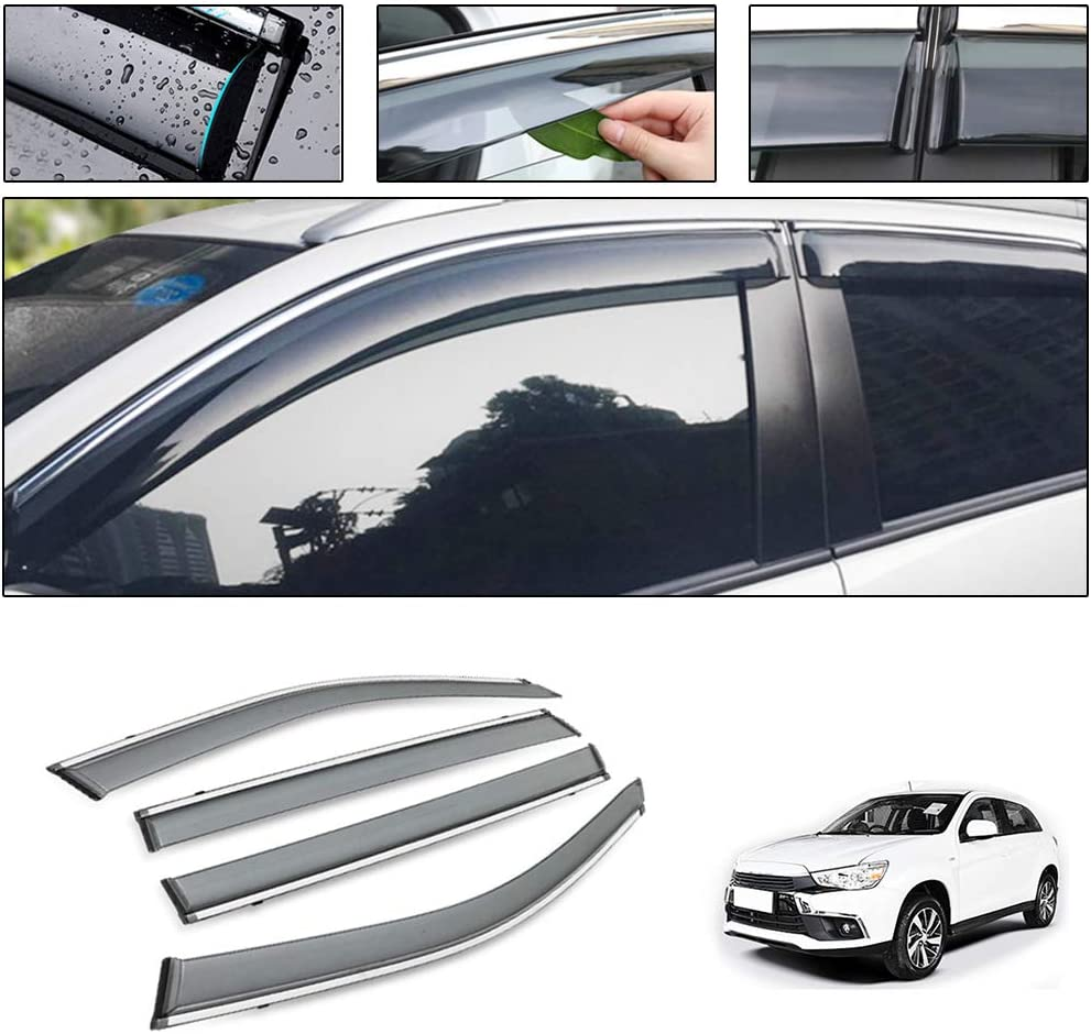 for Mitsubishi Pajero V73 2004-2011 Smoke Deflector Sun Rain Visor Guard Wind Deflectors Car Styling Front Rear Shade Vent Window