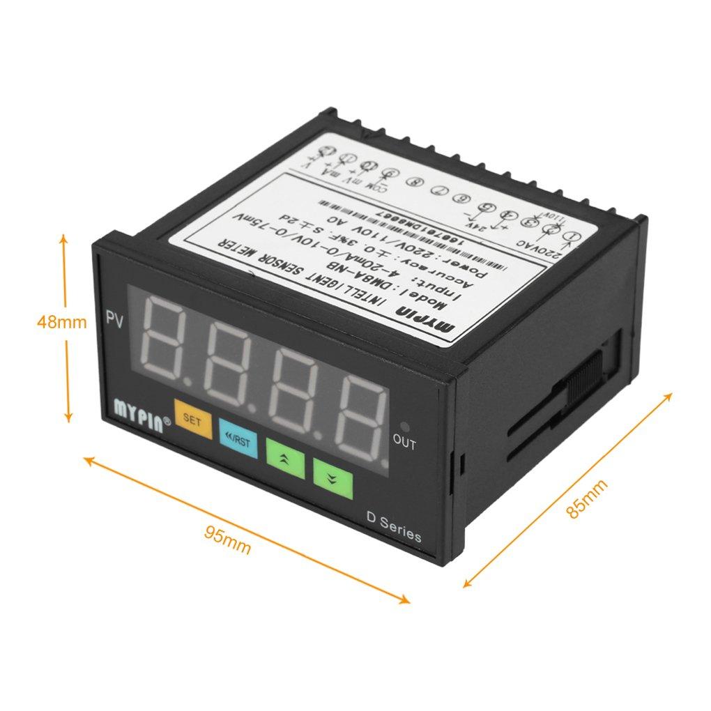 EgalBest MYPIN Digital Sensor Meter Multi-Functional Intelligent LED Display 0-75mV//4-20mA//0-10V Input Pressure Transmitters
