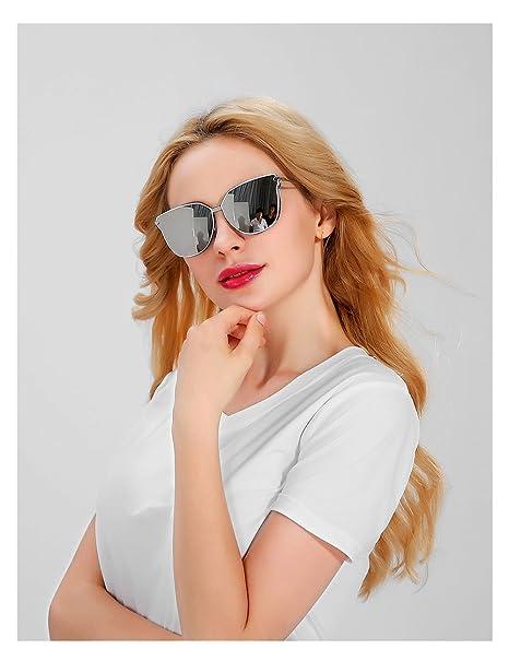Amazon.com: geelook Premium Full Mirrored Aviator anteojos ...