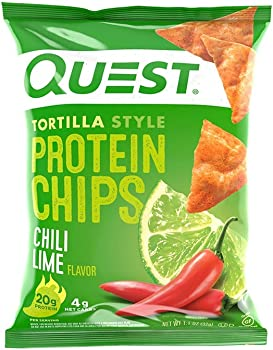 12-Count Quest Nutrition Tortilla Style Protein Chips, Chili Lime