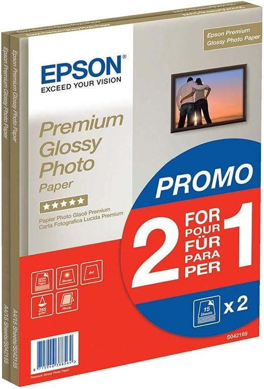 Epson C13S042169 - Pack de 30 hojas de papel fotográfico A4 ...