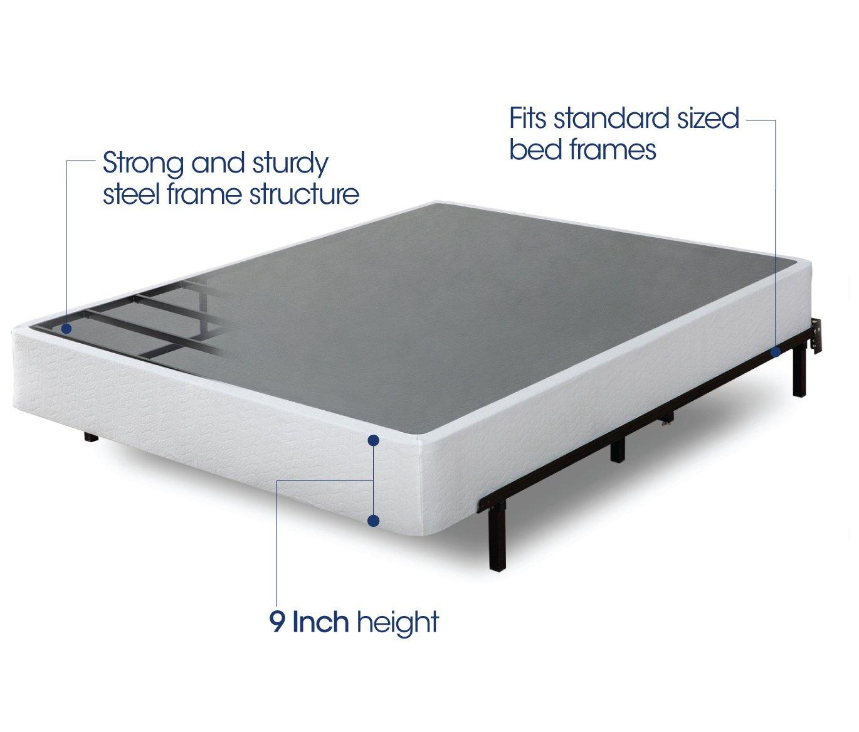 Amazon.com: Zinus 9 Inch High Profile Smart Box Spring/Mattress ...