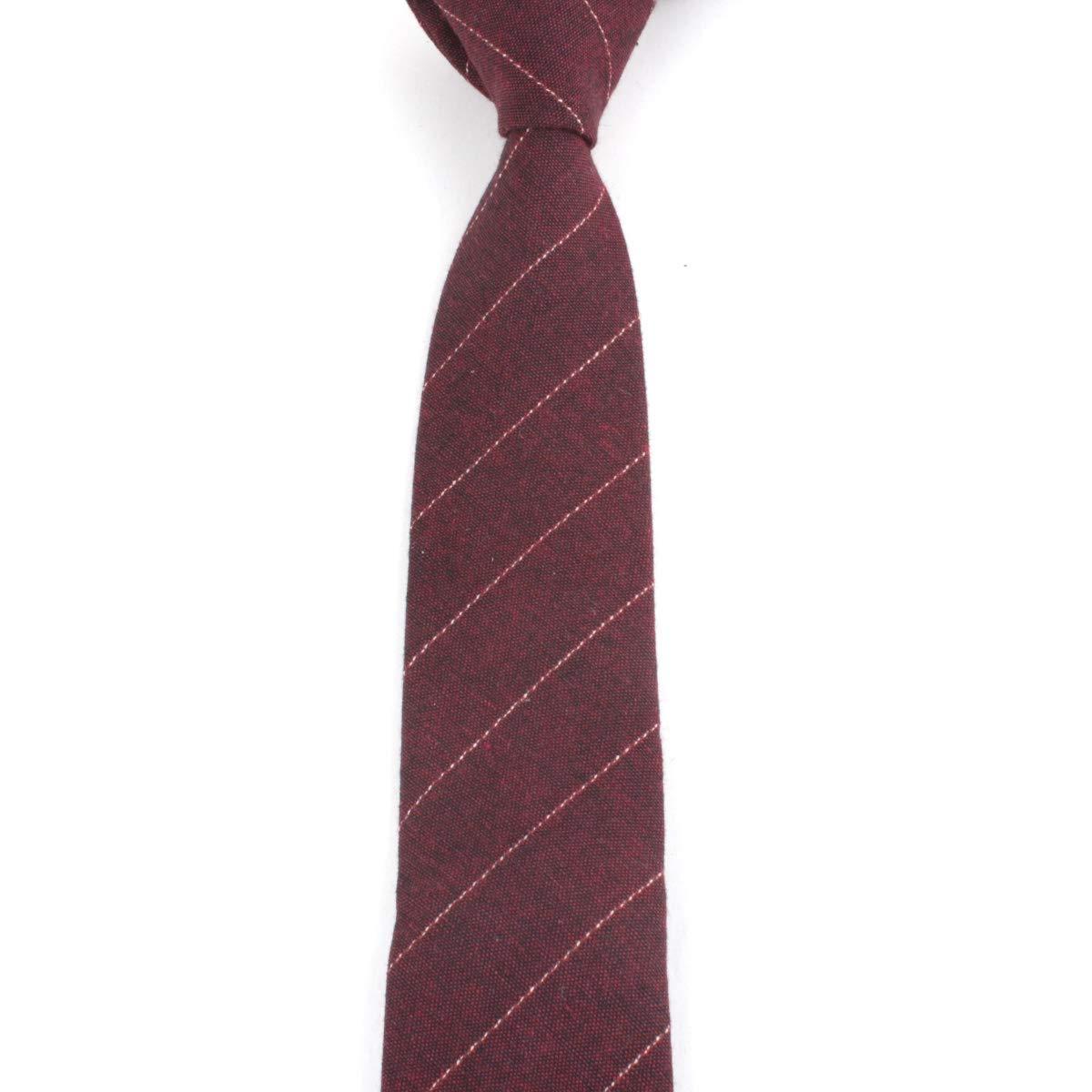 ALOFTT Solid Color Tie 2.36 inch 6 cm Hademade Neckties With Multiple Colors