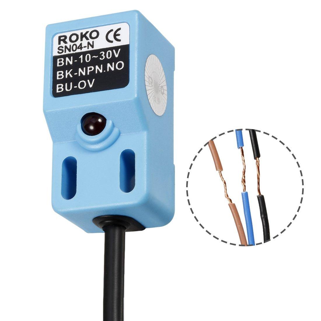Amazon.com: uxcell DC10-30V NPN NO 3-wire Inductive Proximity Sensor ...