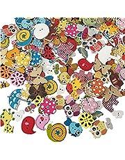 100 Stuks Cartoon Dier Knoppen, Gemengde Kleur Knop, Cartoon Dier Houten Knoppen, Poppenknopen Voor Scrapbooking en Naaien, Schilderen, Doe-et-zelf-handgemaakte Decoratie
