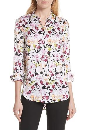 32d7d45276 Amazon.com  Equipment Essential Silk Cherry Blossom Print Button Up ...