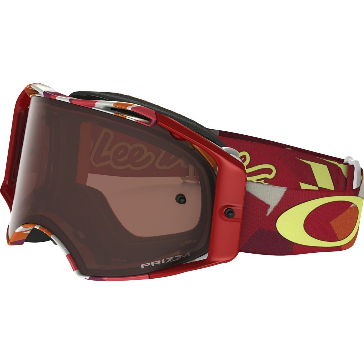 Oakley Airbrake MX TLD Adult Off-Road Motorcycle Goggles Eyewear - Splinter Orange Red/Prizm MX Bronze/One Size Fits All