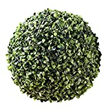 Whole House Worlds The Grammercy Boxwood Ball, 9 inch, Lush Green, Bowl Filler Globe, Faux Boxwood Leaves, Reproduction in Plastic, By