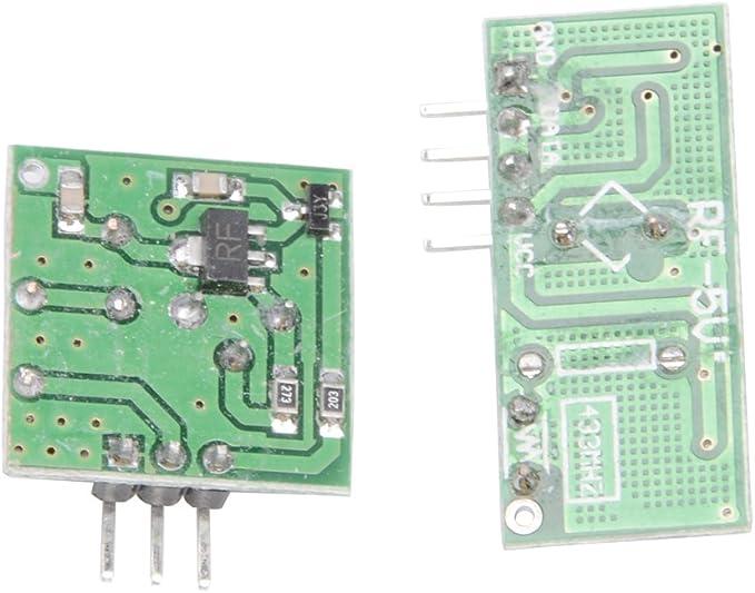 Raspberry Pi MUZOCT 3x 433MHz RF Transmisor Inal/ámbrico y Receptor Kit de Enlace de M/ódulo para Arduino McU Inal/ámbrico DIY Brazo