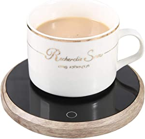 Coffee Warmer Plate Mug Warmer Electric for Desk of Home or Office, Keep Coffees and Drinks Warm, 4.5