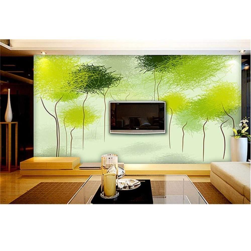 Ansyny 3Dの部屋の壁紙カスタムHd写真壁画/抽象的な緑の木のタンポポ/テレビ/ソファ/寝室/Ktv/バー/ホテル/リビングルーム-300X200CM B07RB97Y4K 300X200CM