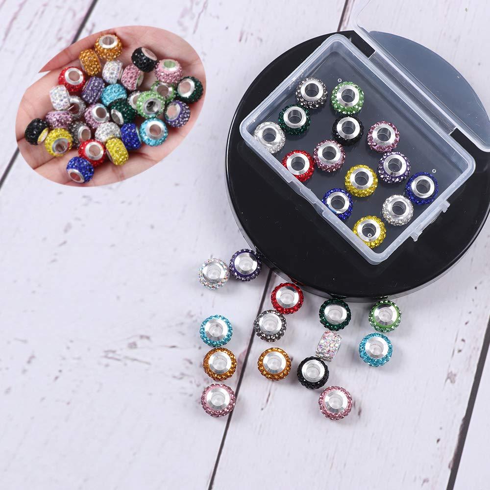 50 unidades acrílico perlas 8mm acrílico perlas multicolor brillante bricolaje decorativas Beads