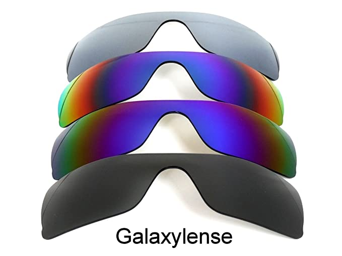 d00b1075cb Image Unavailable. Image not available for. Colour  Galaxy 4 Pairs Replacement  Lenses For Oakley Batwolf Black Blue Green Titanium Polarized