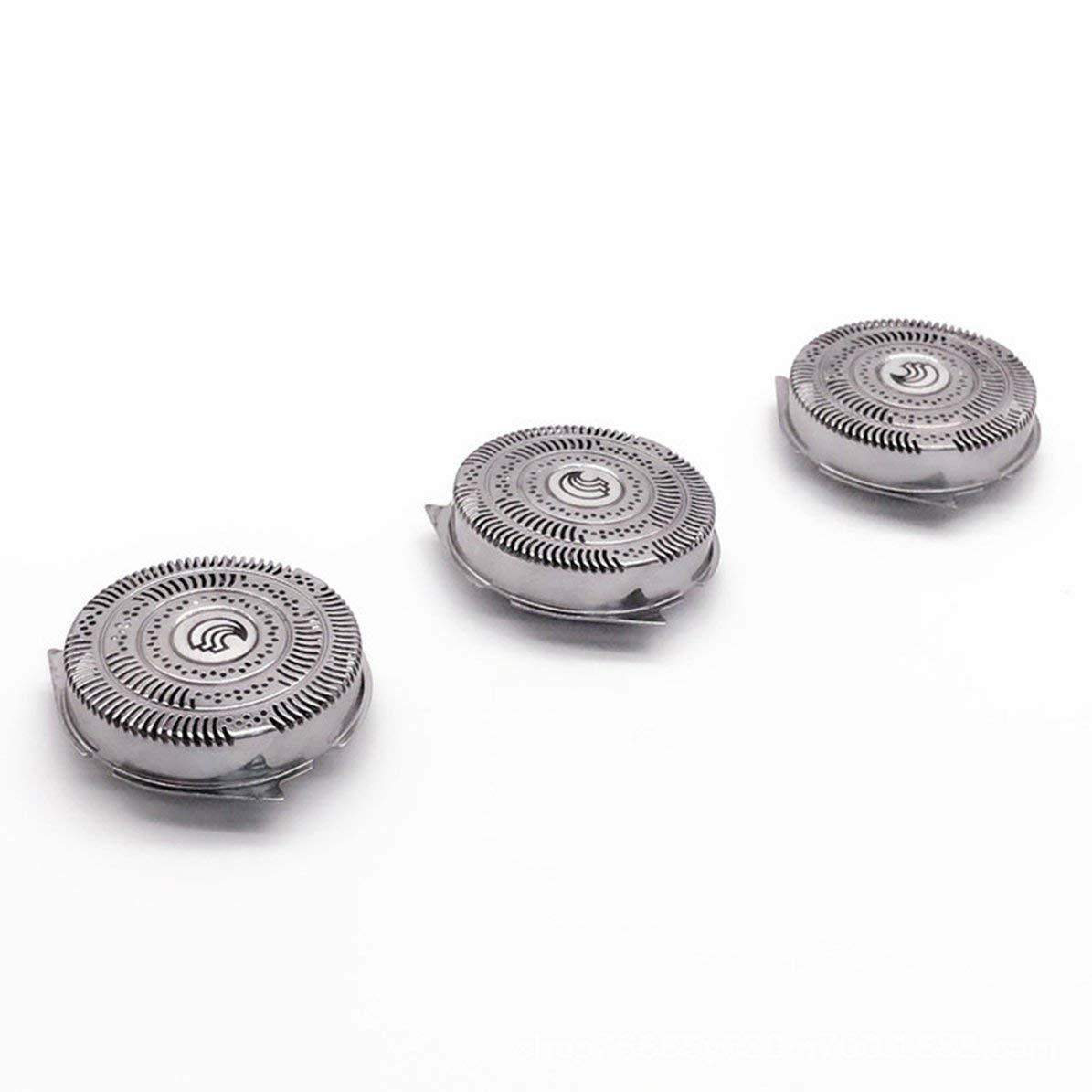 3 piezas de afeitar cuchillas de afeitar Cabezales de afeitado de reemplazo en forma para Philips HQ9070 HQ9080 HQ8240 / 8260 Accesorios de la máquina de afeitar rotativa PT920 DoMoment