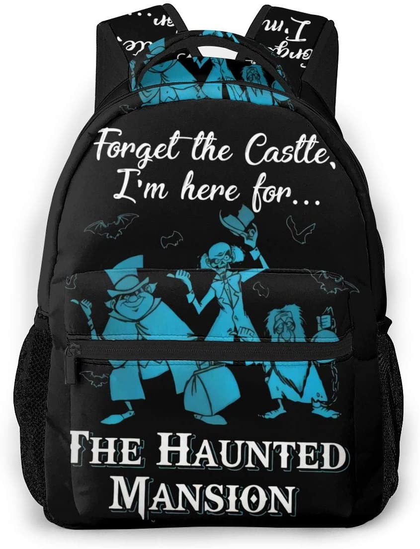 Forget The Castle I'm Here for The Haunted Mansion Theme Backpack School Bag Hiking Casual Bag