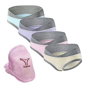 4pcs culotte de grossesse femme En Coton Maternité Taille Basse Enceintes Briefs Sous-Vêtements Confortable sacs à linge