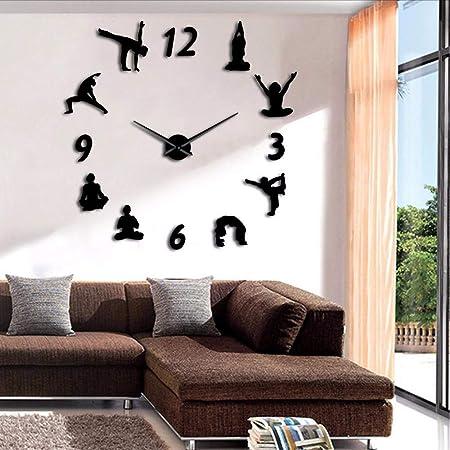 Wmbz 1 Pieza De Yoga Relojes De Pared Grandes Reloj De ...