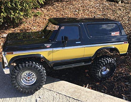 Ultradecals Dark Wood Traxxas TRX-4 / TRX4 Ford Bronco Body Skin Wrap calcomanía, Dorado