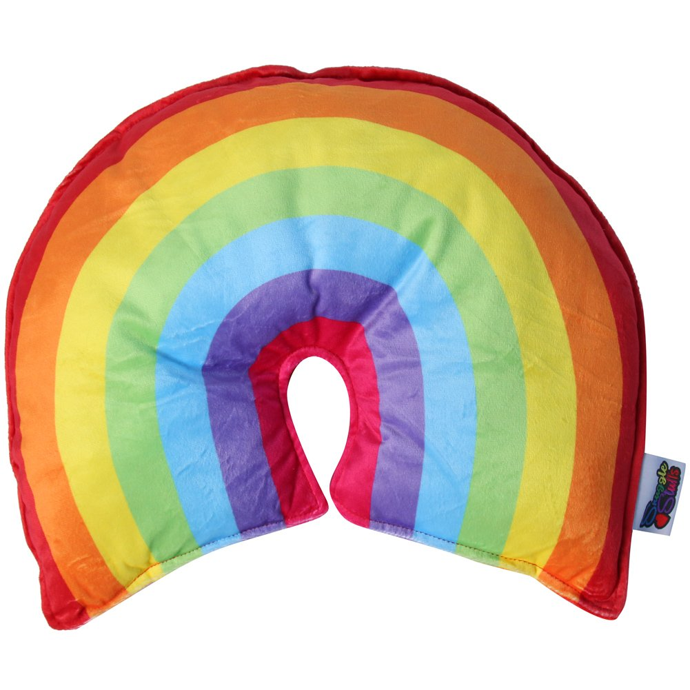 Snuggle Stuffs Lucky Rainbow 16 Throw Pillow