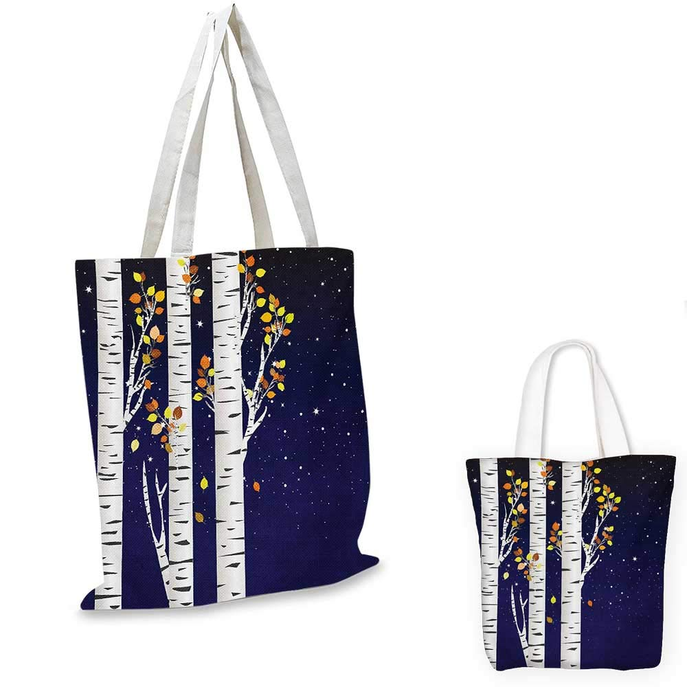 Autumn canvas messenger bag Colorful Leafless Abstract Tree Tops Branches Creative Foliage Park Artful Graphic canvas beach bag Multicolor 14x16-11