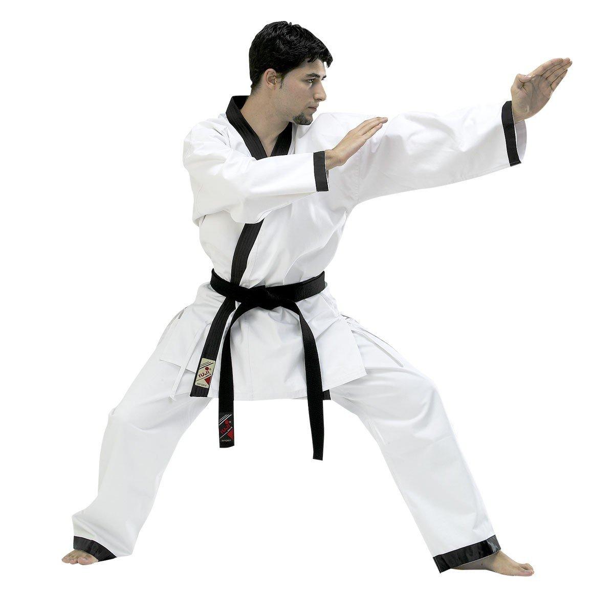 Fuji Mae Dobok Hapkido blanc col noir ''Tradition