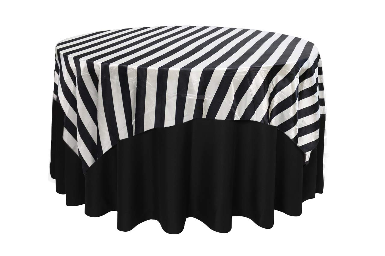 Astonishing Your Chair Covers 72 Inch Square Satin Table Overlay Black White Striped Square Satin Table Cloths Beatyapartments Chair Design Images Beatyapartmentscom