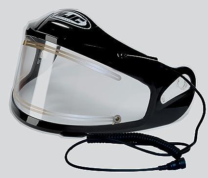 snowmobile helmet heated shield plug