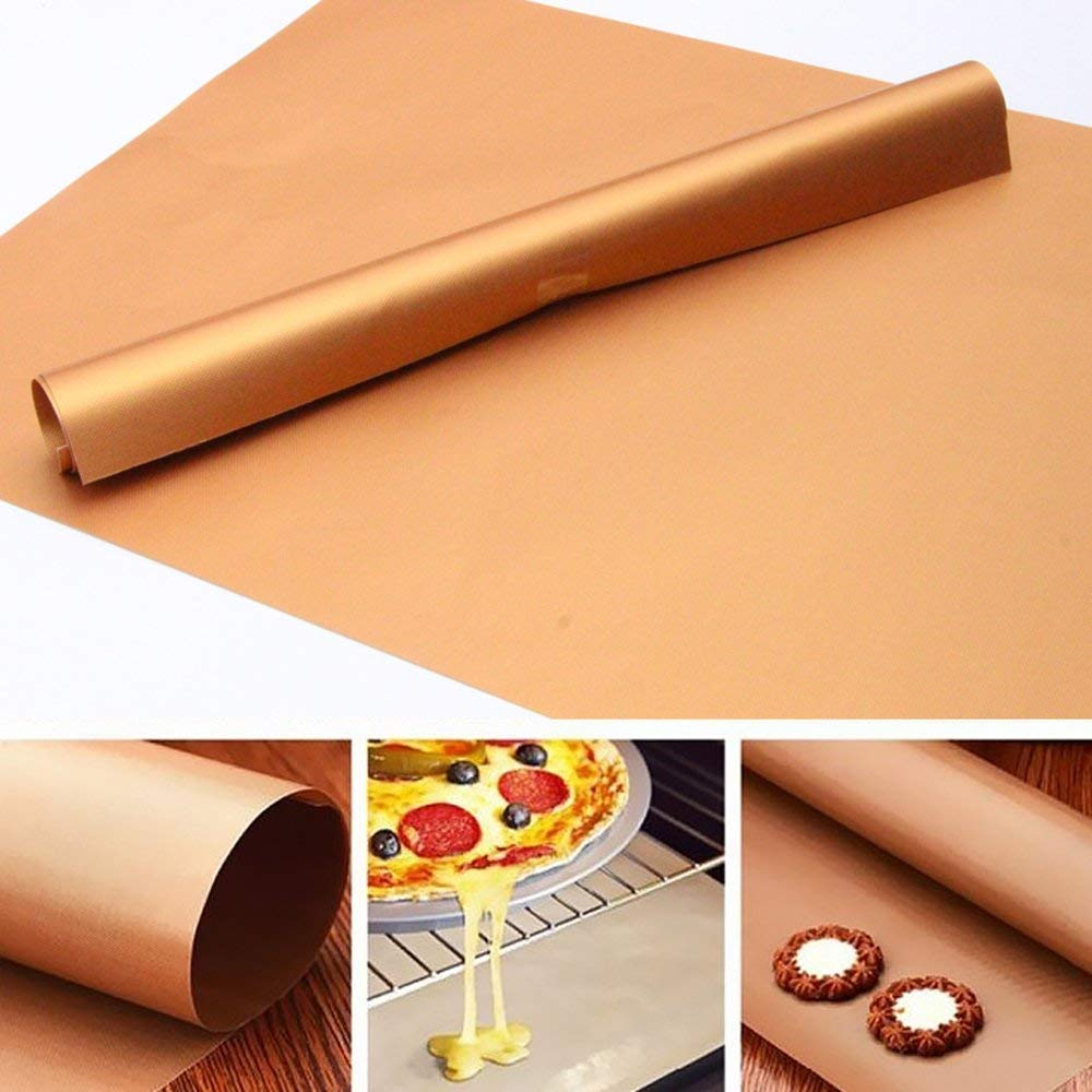 Copper Grill Mats Set of 3, BBQ Grill Bake Nonstick, Baking Mats High Temperature Outdoor Barbecue Grill Mats (Copper)
