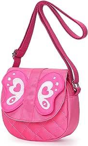 (Butterfly Pink) - Kids shoulder Bag Crossbody Purse Butterfly Mini Cartoon Animal Preschool Messenger Handbag for Children Toddler baby Girls (Butterfly Pink)