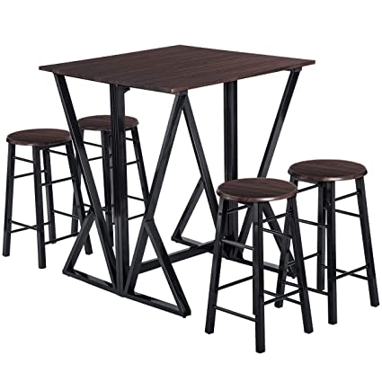 Surprising Amazon Com Dinning Set For 4 Julyfox 36 Inch Counter Gmtry Best Dining Table And Chair Ideas Images Gmtryco