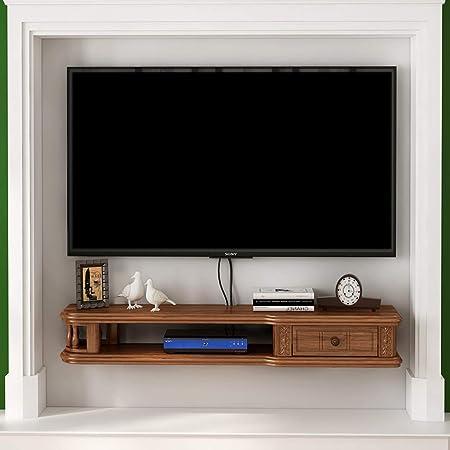 LXYFMS Armazón de Pared Flotante marrón Gabinete para TV Rack para TV Estante decodificador Estante para Consola de TV organización de Almacenamiento en Rack Caja de Cable Bastidor de enrutador: Amazon.es: Hogar