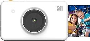 KODAK Mini Shot Wireless Instant Digital Camera & Social Media Portable Photo Printer, LCD Display, Premium Quality Full Color Prints, Compatible w/iOS & Android (White)