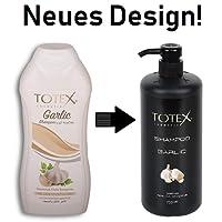 TOTEX Garlic Shampoo - 3x Knoblauchshampoo je 750ml (2250ml) gegen Haarsausfall - für mehr Volumen (3 Stück)
