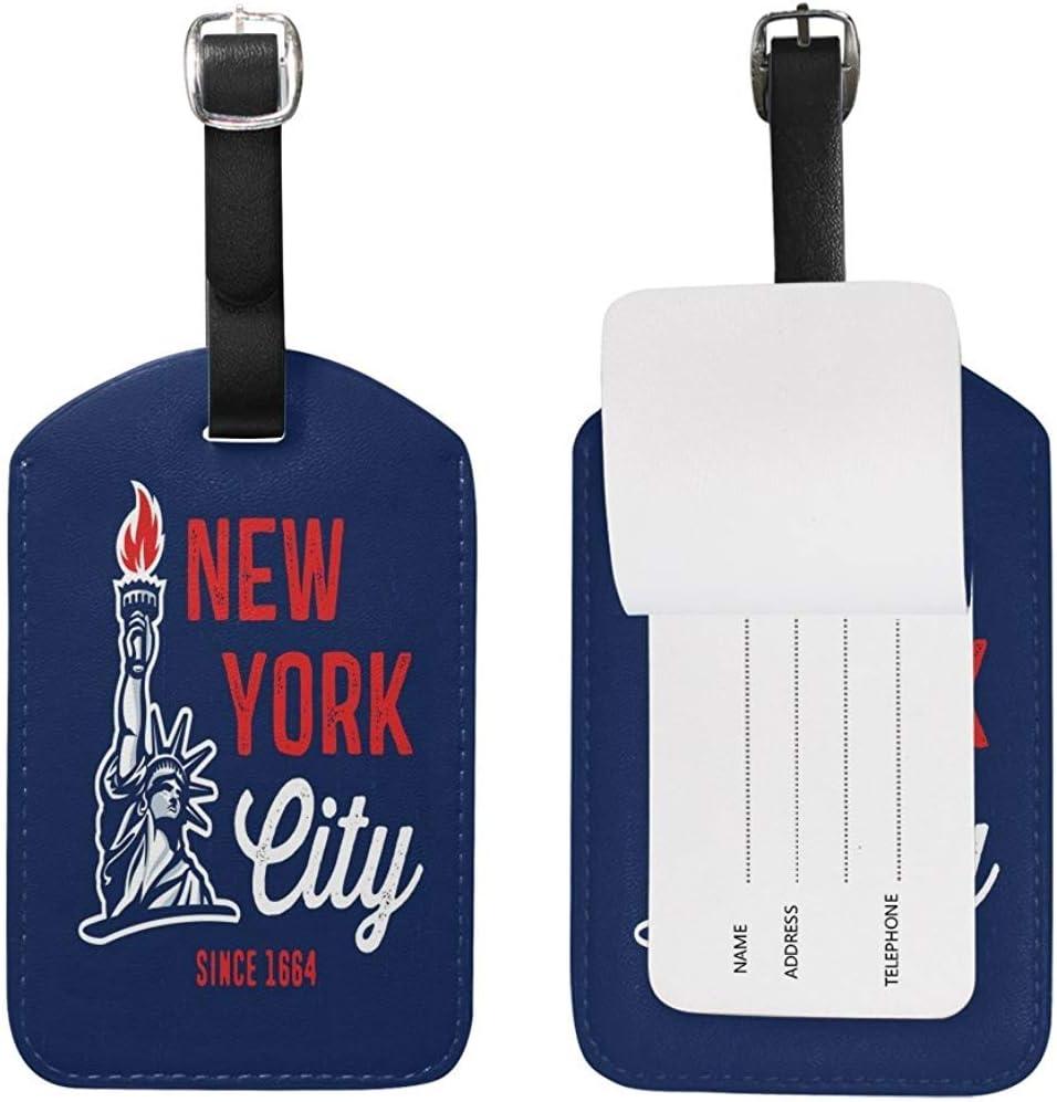 /Étiquettes de Bagage de Mode de New York City /Étiquette de Sac didentit/é de Voyage pour Valise 1 pi/èce