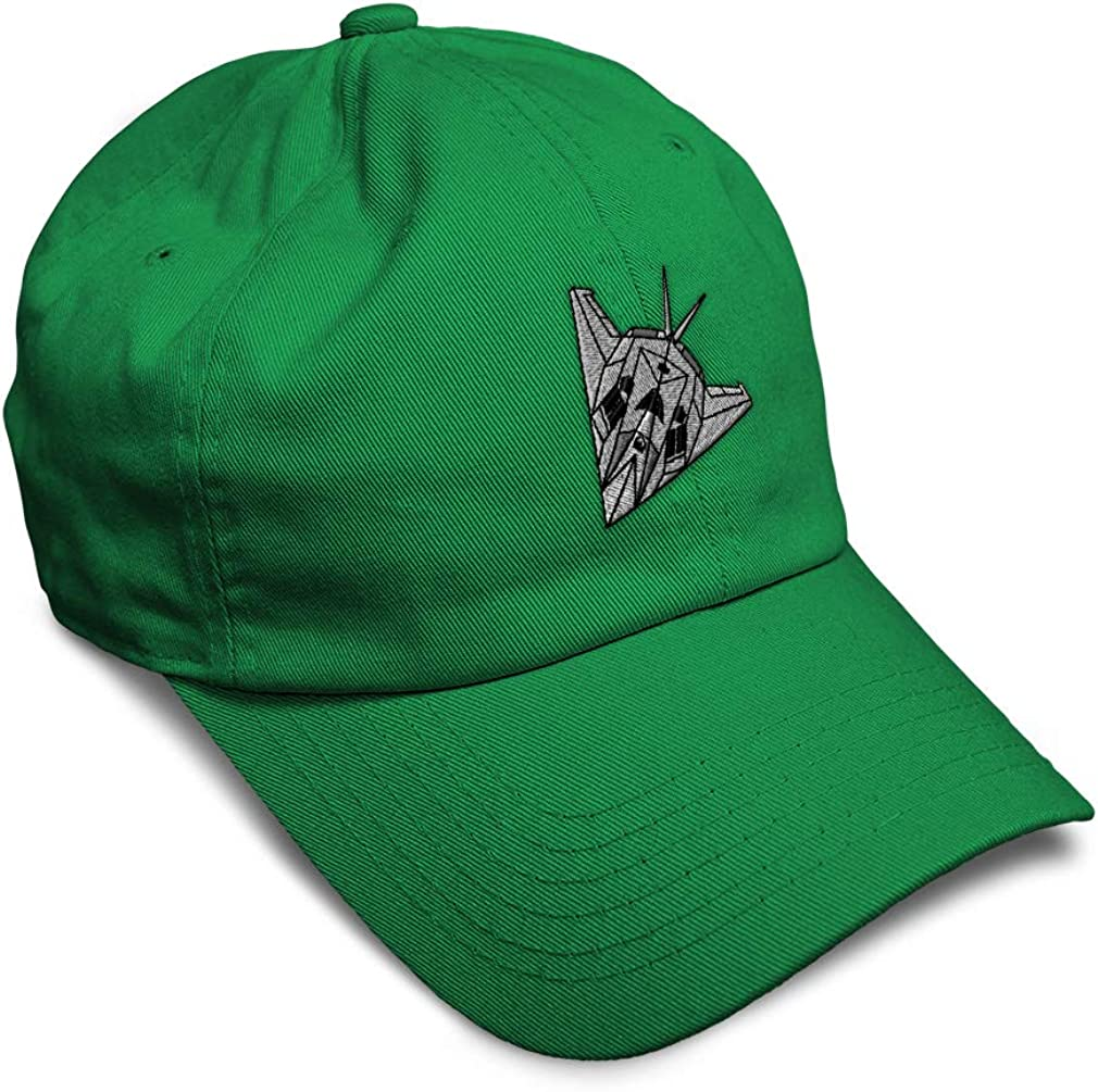 Custom Soft Baseball Cap F-117A Stealth Fighter A Embroidery Twill Cotton