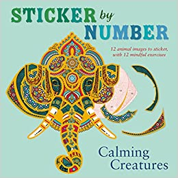 Amazon Com Sticker By Number Calming Creatures 12 Animal