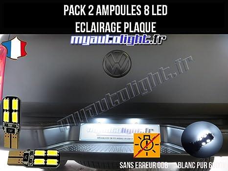 Pack Bombillas LED iluminación placa para Volkswagen Amarok