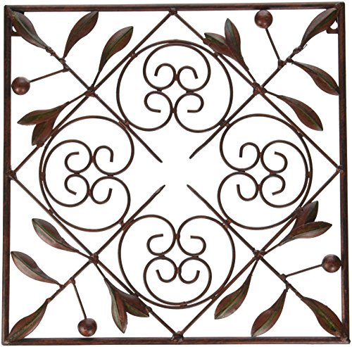 Deco 79 50035 metal wall decor set of 4 import it all for Deco metal mural
