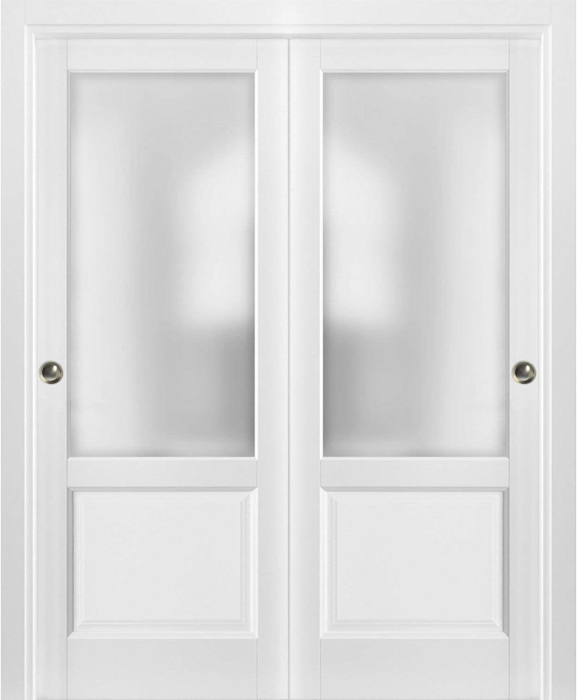 Puertas correderas de armario con herrajes | Lucia 22 blanco mate ...