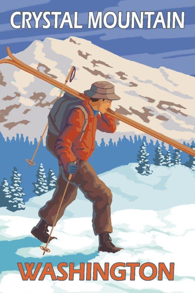 【今日の超目玉】 Skier Print carrying雪スキー – クリスタルマウンテン、wa 12 x 36 18 x Metal Sign LANT-13669-12x18M B07B29VYKS 24 x 36 Signed Art Print 24 x 36 Signed Art Print, 建材OFF:2923e11b --- arianechie.dominiotemporario.com