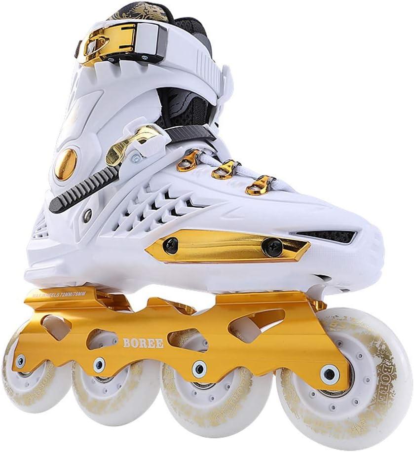 XZ15 インラインスケート、大人の男性と女性のプロフェッショナルブラックローラースケート、初心者の若い学生耐久性のあるローラースケート (Color : #1, Size : EU 43/US 10/UK 9/JP 26.5cm) #1 EU 43/US 10/UK 9/JP 26.5cm