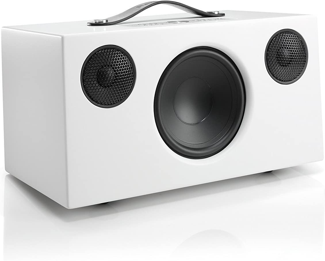 Audio Pro Addon C10 Compact High Fidelity WiFi Bluetooth Wireless Multi-Room Speakers Compatible with Alexa, Computers, Laptop, Desktop, Cellphone & Tablet - White