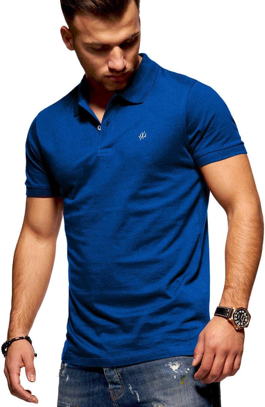 Jack & Jones Polo para Hombre Camiseta Camisa Manga Corta Unicolor