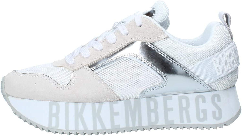 Bikkembergs - Zapatos de mujer Art B4BKW0096 White Silver Color foto Talla a elegir: Amazon.es: Zapatos y complementos
